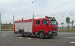 豪沃T5G水罐消防车(5吨)