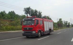 豪沃T5G泡沫消防车(5吨)