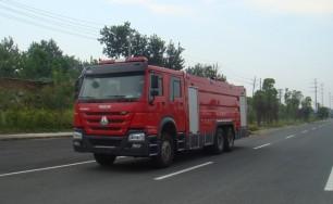 豪沃双后桥泡沫消防车(16吨)