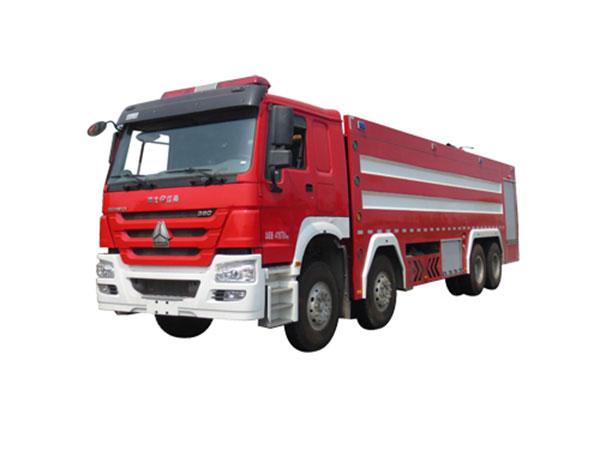 豪沃前四后八泡沫消防车(25吨)