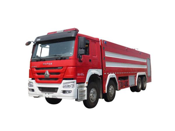 豪沃前四后八水罐消防车(25吨)