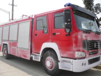 豪沃水罐消防车